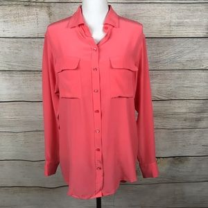 Equipment Femme 100% silk button down blouse